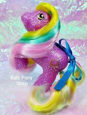 HQG1C Custom Vintage G1 MLP Style Rearing Baby Glitter Pony 🌟LUCKY STAR 🌟