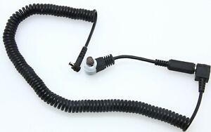 Canon 3 pin to sub-mini female & PC to male sub-mini coiled cords 388953