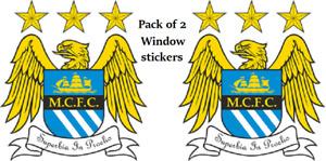 Manchester City FC MCFC Club Crest Window Sticker Football Club Car Home Sign x2