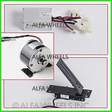 250 W Watt 24 V DC electric motor kit w speed controller & Foot Pedal Throttle
