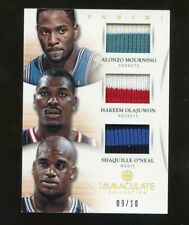 2012-13 Immaculate Alonzo Mourning Hakeem Olajuwon Shaquille O'Neal Patch /10