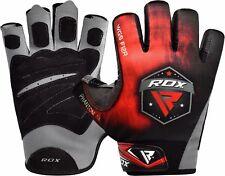 Rdx gimnasio guantes pesas Gym Musculacion fitness entrenamiento Halterofilia es rojo L