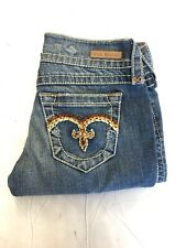 NEW Women's Rock Revival Signature Embroidered back Pocket Denim Slim Boot Jeans