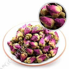 GOARTEA 100g Organic Red Rosebud Rose Bud Flower Dried Health Chinese Herbal Tea