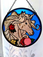 Stained Glass Unicorn Window Ornament