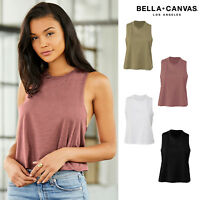 Bella + Canvas Women's Racerback Cropped Tank 6682 - Relaxed Fit Ladies Vest Top