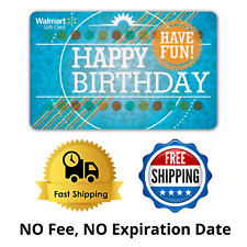 Birthday Gift Card Walmart Easy To Use Mail Delivery Physical From $25 To $300