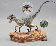 Jurassic World 2 Fallen Kingdom Figure Blue Velociraptor Dinosaur With Base Gift