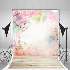 Pink Flowers Vinyl Photography Backdrop Valentine's Day Wedding Photo Props