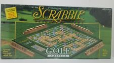 Scrabble Crossword Game Golf Edition W/Classic Wood Tiles Factory Sealed