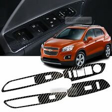 Interior Window Switch 5D Glossy Shiny Carbon Decal 4P For CHEVY 13-17 Trax Gsuv