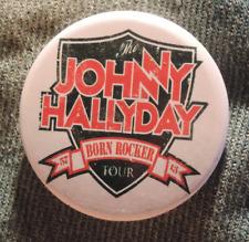 Pin Button Badge Ø38mm JOHNNY HALLYDAY born rocker