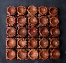 Wholesale Price!25Pcs Rosewood Crystal Sphere stand pedestal holding diameter3cm