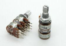 2 x 12mm Alpha C50K 50K Reverse Audio Taper Potentiometer 4-Gang 20mm Shaft