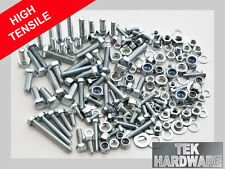 High Tensile Bolts (Hex Setscrews), nuts, nylocks, washers 200 mix.  M5, M6, M8