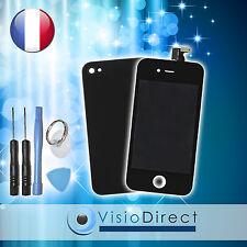 Vitre tactile ecran LCD sur chassis pour iPhone 4S noir + vitre arrière + outils