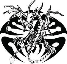 Dragon Tribal Skeleton Creature Car Truck Window Laptop Vinyl Decal Sticker