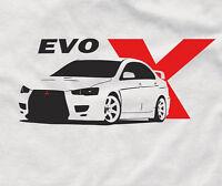 Evo X t-shirt jdm for mitsubishi fans Evolution shirt