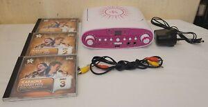 EK Easy Karaoke Machine EKG88-VR CDG Karaoke Player With CDs - PINK