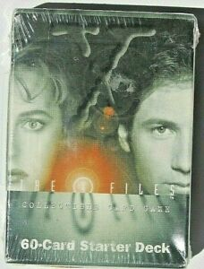 New & Sealed - 1996 The X-Files Collectable Card Game 60 Card Starter Pack