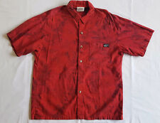 VINTAGE HAWAIIAN SHIRT Jimmy'z ALOHA Coconut Buttons REVERSE PRINT Surf Board