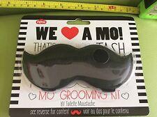 MO MOUSTACHE BEARD MEN'S MAN GROOMING KIT Scissors Comb KIT STACHE SET BNOC NEW