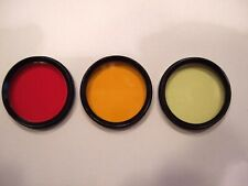 Meopta 30mm lens filters Red, Orange, Yellow for Flexaret