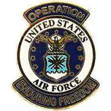 "US Air Force Operation Enduring Freedom Lapel Pin USAF LOGO (1-1/16"")"