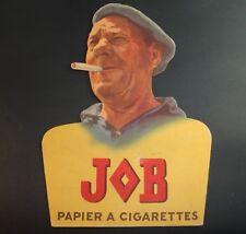 CARTON PUBLICITAIRE PRESENTOIR JOB PAPIER CIGARETTES PUB ADVERTISING OLD ALCOOL