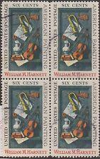 (ZB-194) 1969 USA 6c William Harnett 4block used (A)