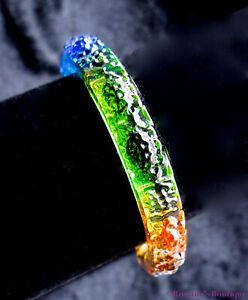 Imperial crystal bracelet lotus Buddha blue purple green amber prosperity