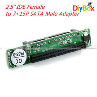 "44pin 2.5"" IDE HDD Drive Female to 7+15pin Male SATA Adapter Converter Card"