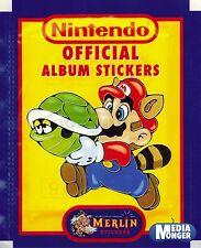 Super Mario Bros. Nintendo Oficial Álbum De Pegatinas 1 Paquete & 1992