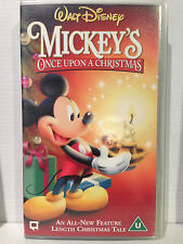 WALT DISNEY ~ MICKEY'S ONCE UPON A CHRISTMAS ~ VHS VIDEO