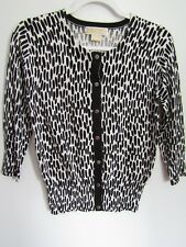 Michael Kors Black Cardigan Sweater Size Small White