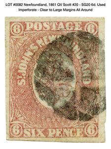 0082: Newfoundland, 1861 QV Scott #20 - SG20 6d. Used