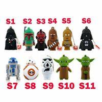 Star Wars Robot USB Flash Drive Thumb USB Memory Stick U Disk Pen Drive 4 - 128