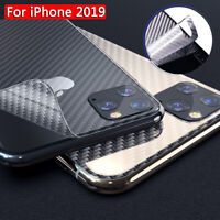 Carbon Fiber Back Cover Film Sticker Screen Protector For iPhone 11 Pro Max Bu