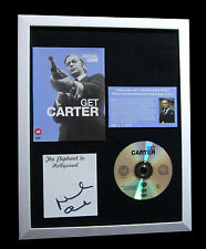MICHAEL CAINE+SIGNED+FRAMED+GET CARTER+ITALIAN=100% AUTHENTIC+FAST GLOBAL SHIP