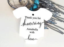 10 Kraft White Gift Tags Bomboniere Baby Shower Favour Personalised Thank you