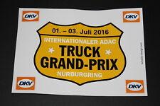 Truck Grand Prix DKV ADAC Nürburgring 2016 Aufkleber Sticker Decal Bapperl LKW