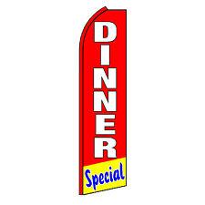 Dinner Special Advertising Flutter Feather Sign Swooper Banner Flag Only