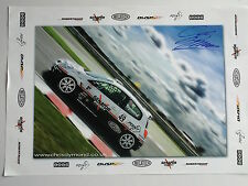 Chris Dymond Signed Touring Cars Poster.