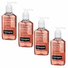 NEUTROGENA OIL FREE ACNE WASH PINK GRAPEFRUIT 4 x 177 ml NEW - FACE WASH BLEMISH