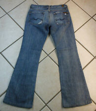 "7 FOR ALL MANKIND ""FLARE"" WOMEN'S PANTS DENIM BLUE JEANS. SIZE 27 INSEAM 31"