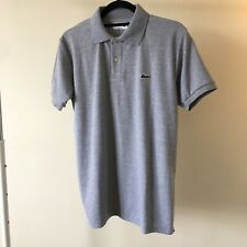 Lacoste Men's Polo Regular Fit. Size 6, Large. Gray. NEW. Free shipping!