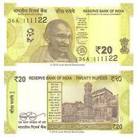 India 20 Rupees 2019 New Design P-New Banknotes UNC