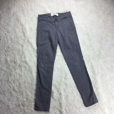 Hollister Womens Size 00R Gray Skinny Pants W23 XL31 Stretch. D3