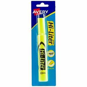 Avery Hi-Liter Desk-Style Highlighter Smear Safe Ink Chisel Tip Yellow (1-Count)