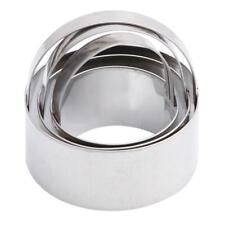 3x Stainless Steel Round Circle Cookie Biscuit Cutter Fondant Cake Paste Mould S